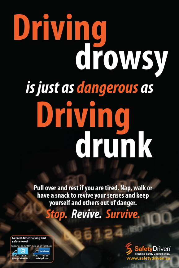 Driving drowsy is just as dangerous as driving drunk