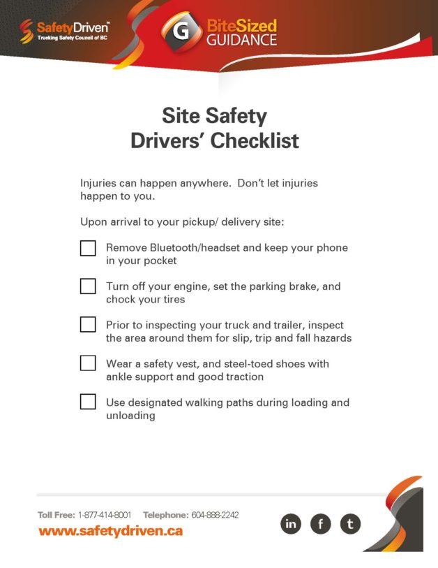 Site-Safety-Drivers-Checklist