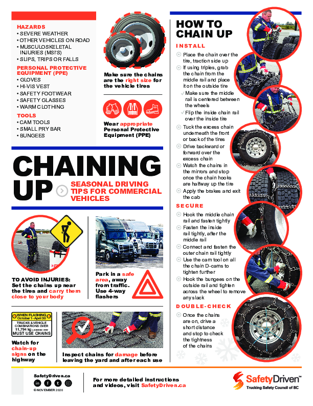 how to put snow chains on tires